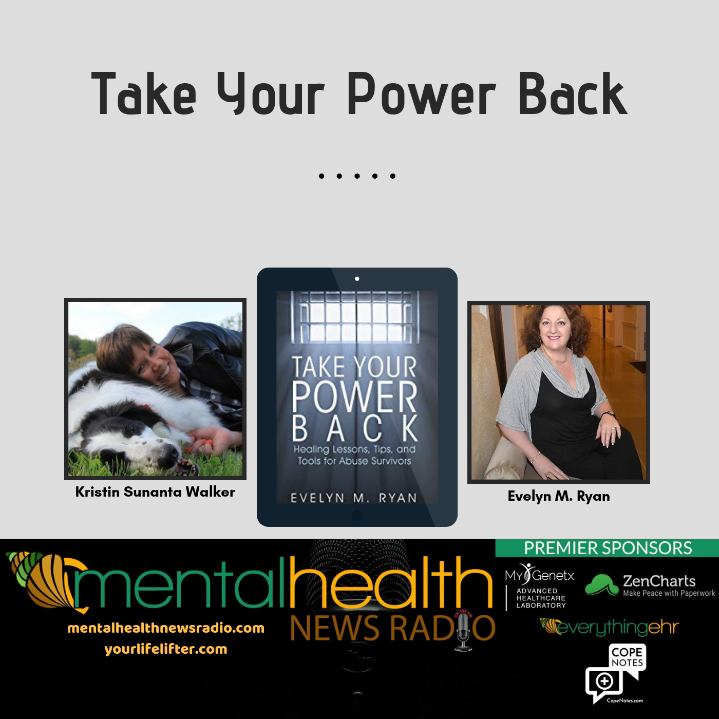 Certified life coach, best-selling author and abuse recovery expert Evelyn Ryan joins Mental Health News Radio podcast as segment co-host.